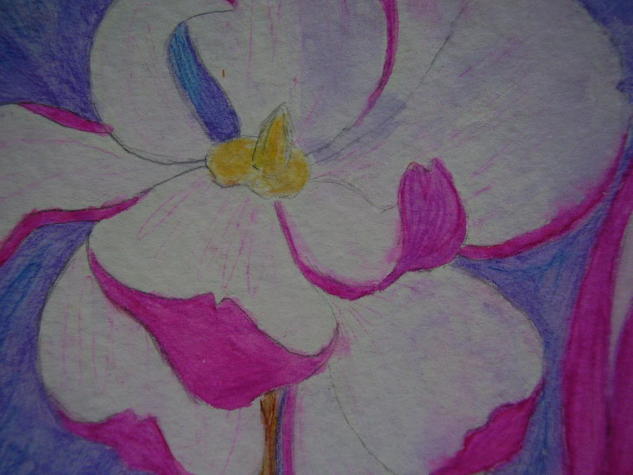 Pastels Drawing - My Flower by Yvette Pichette