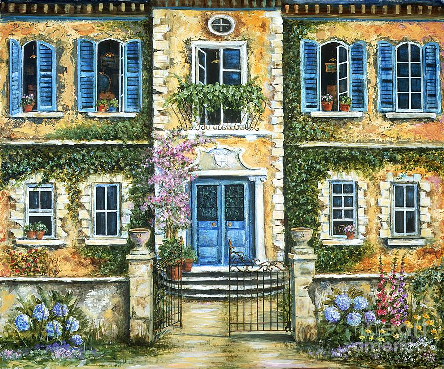 My french villa painting by marilyn dunlap for My villa
