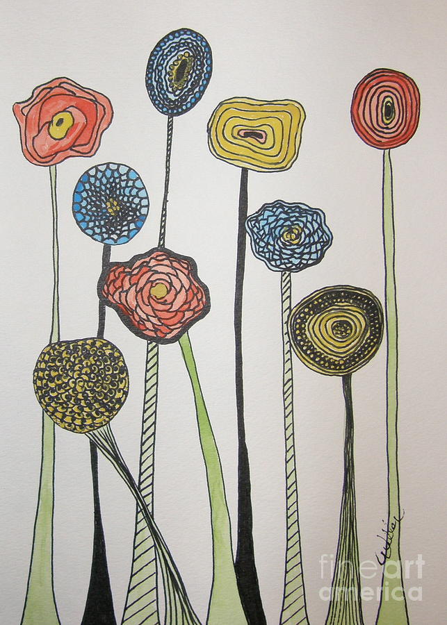 Flowers Painting - My Garden by Marcia Weller-Wenbert