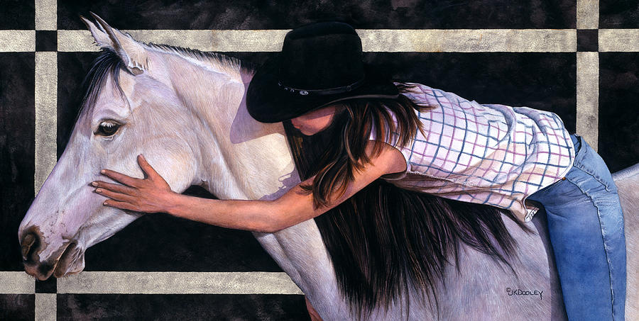 Cowgirl Painting - My Girl by JK Dooley