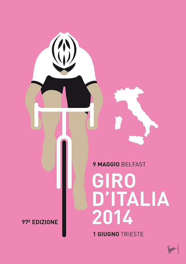 Minimal Digital Art - My Giro D Italia Minimal Poster 2014 by Chungkong Art