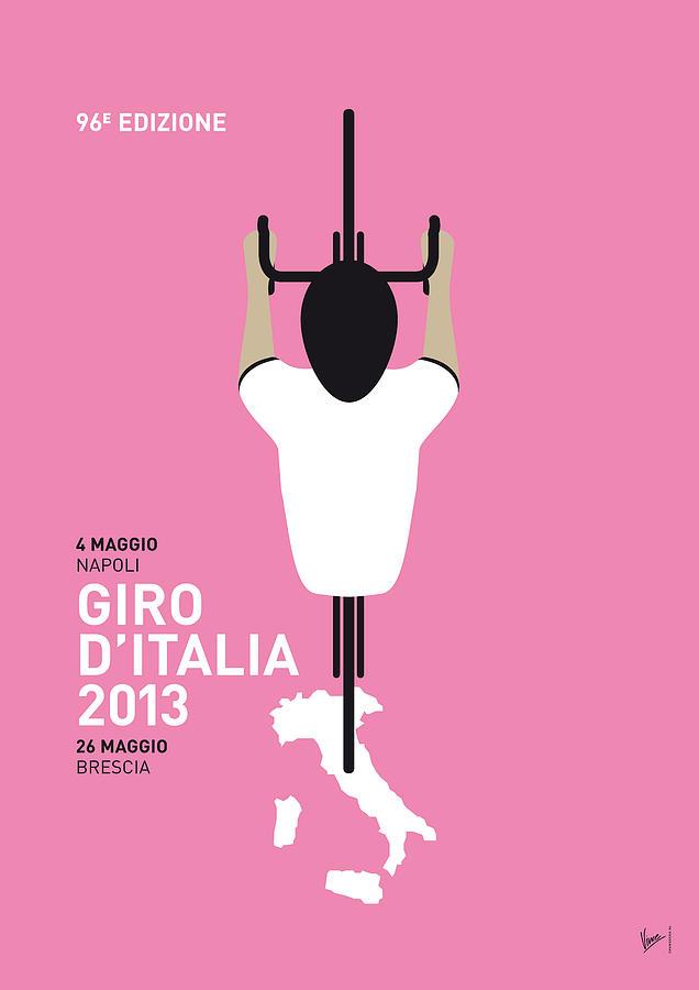 2013 Digital Art - My Giro Ditalia Minimal Poster by Chungkong Art