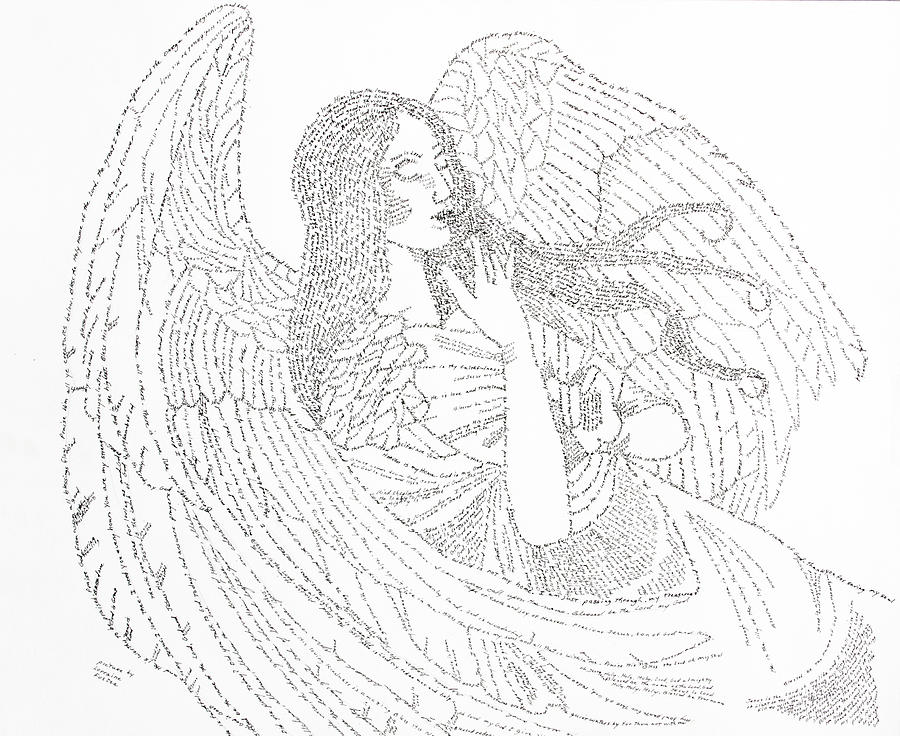 Guardian Angel Drawing - My Guardian Angel by Lorraine Foster
