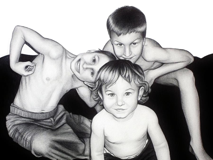 Drawing Drawing - My Guys In 2010 by Danielle R T Haney