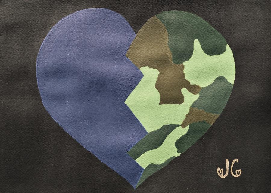Heart Painting - My Heart by Jessica Cruz