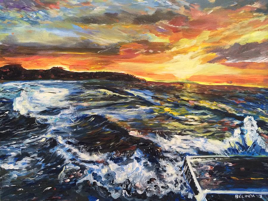 Seascapes Painting - My Heart Moves With You by Belinda Low