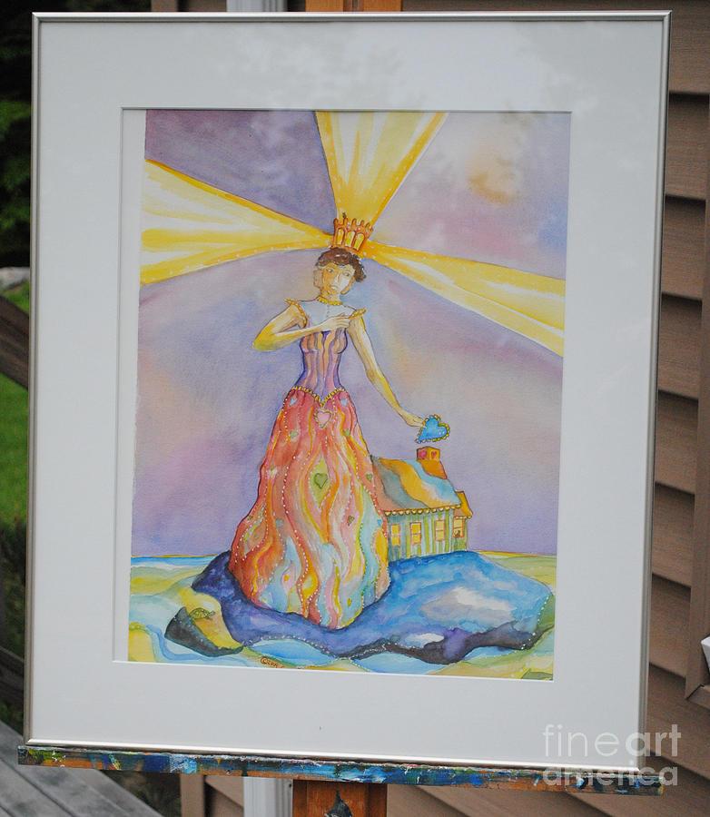 Woman Painting - My Heart My Home by Cori Caputo