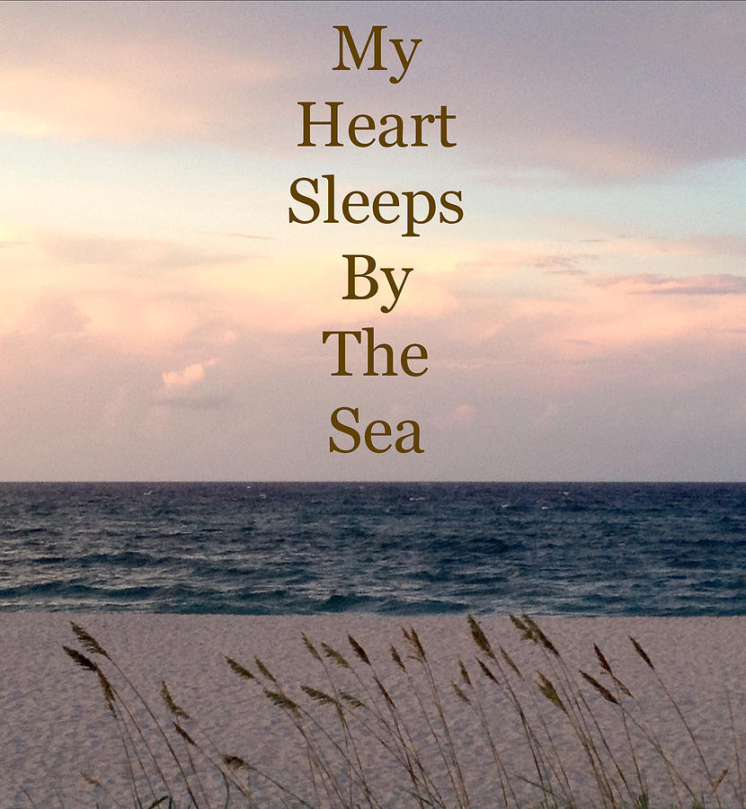 Beach At Dusk Photograph - My Heart Sleeps By The Sea by Maya Nagel