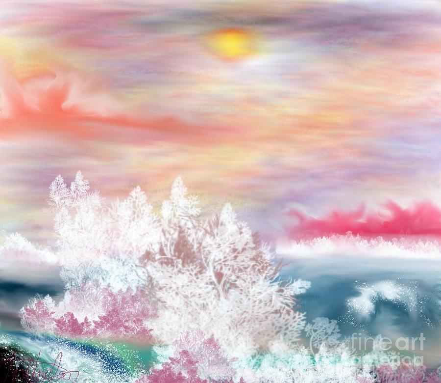 Sky Painting - My Heaven by Lori  Lovetere