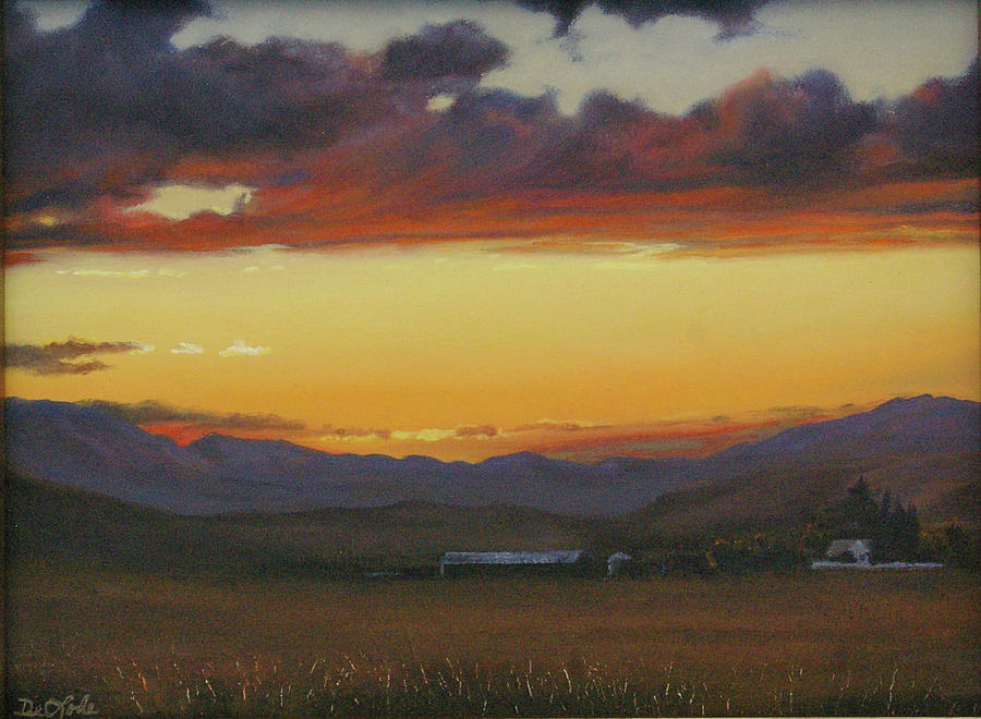 Landscape Painting - My Homes In Montana by Mia DeLode