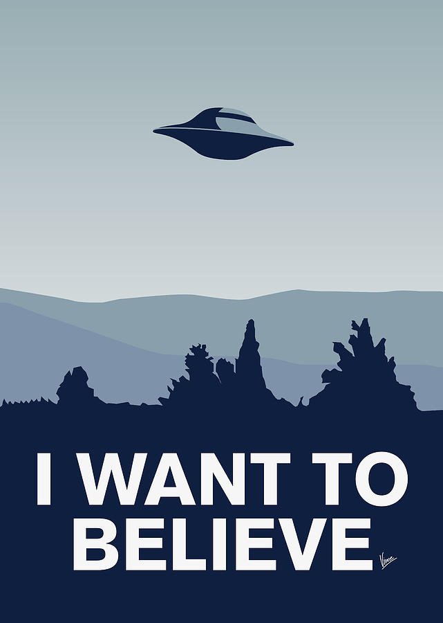 Classic Digital Art - My I Want To Believe Minimal Poster-xfiles by Chungkong Art