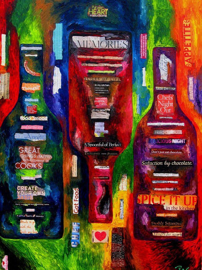 Wine Painting - My Inner Chef by Patti Schermerhorn