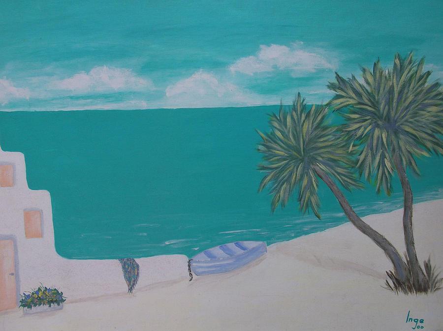 Ocean Painting - My Island by Inge Lewis