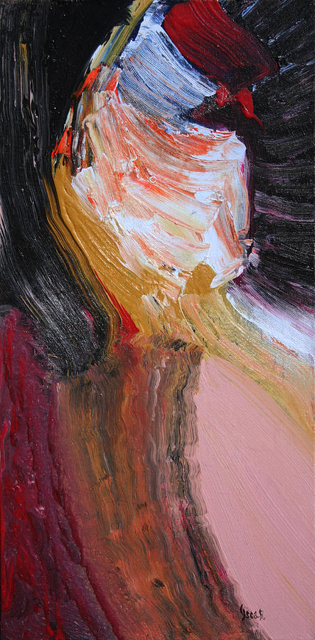 Portraits Painting - My Lady  by Oscar Penalber