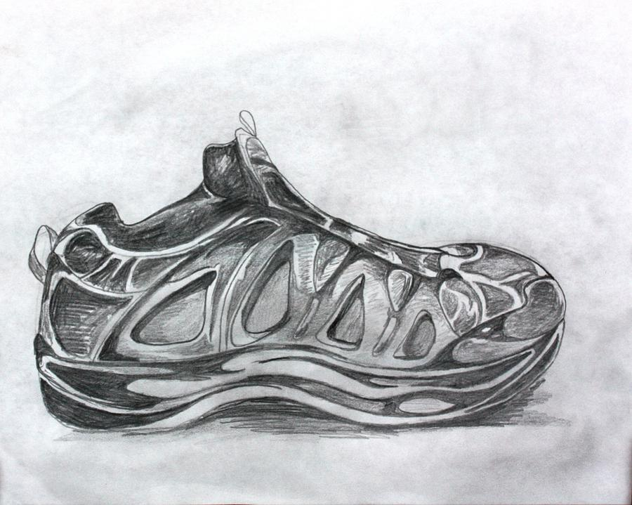 Pencil Drawing - My Left Foot by Pat Purdy