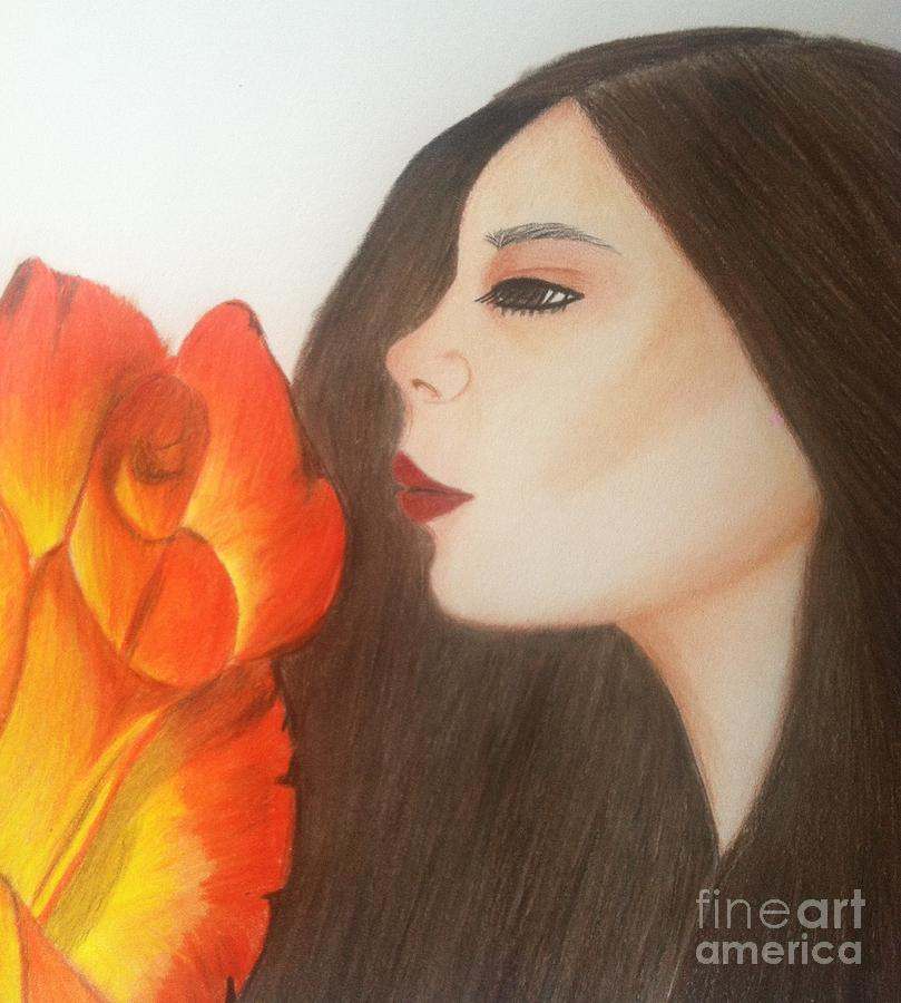 Rose Drawing - My Life Is Like A Rose by Saribelle Rodriguez