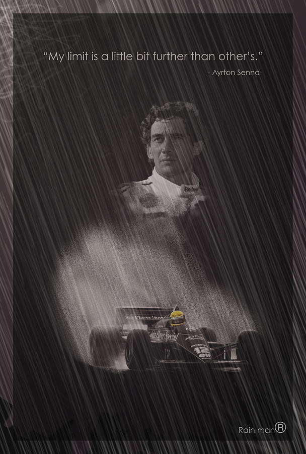 Ayrton Digital Art - My Limit Is A Little Bit Further Than Others by Stephane Trahan