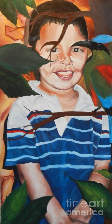 Brother Painting - My Little Brother by Juan Molina