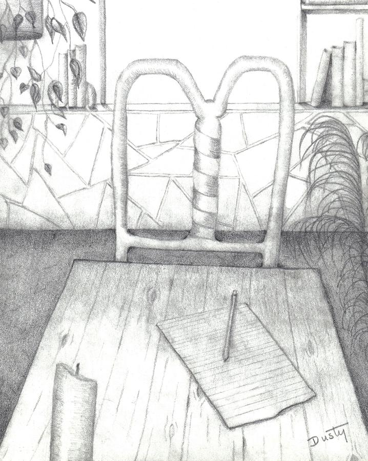 Loft Drawing - My Loft by Dusty Reed