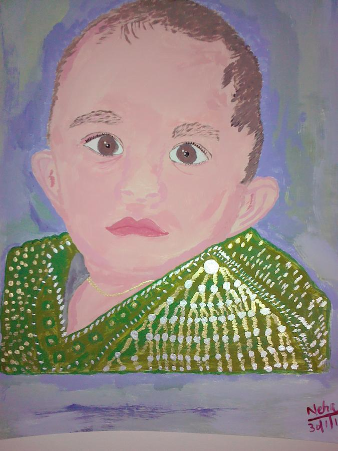 My Lovely Son Painting by Neha  Shah