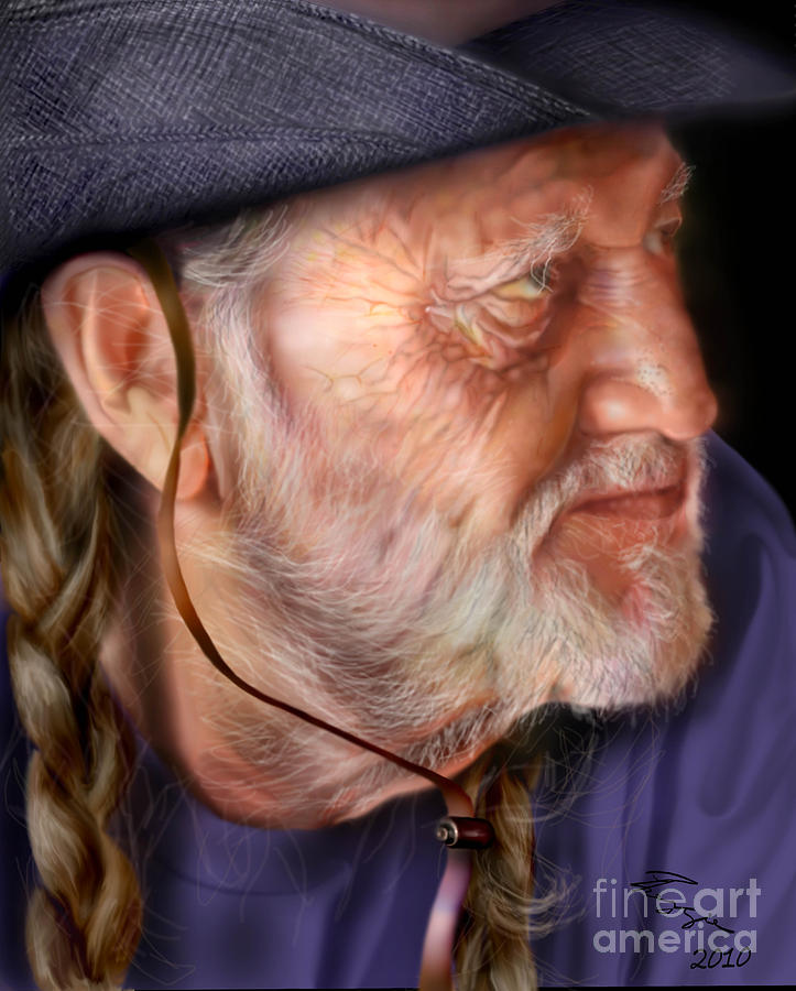 Willie Nelson Painting - My Man Willie by Reggie Duffie