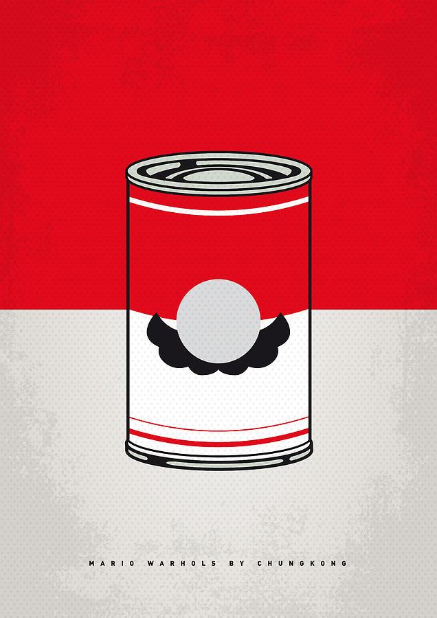 Warhol Digital Art - My Mario Warhols Minimal Can Poster-mario by Chungkong Art