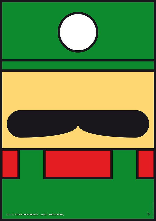 Mario Digital Art - My Mariobros Fig 02 Minimal Poster by Chungkong Art