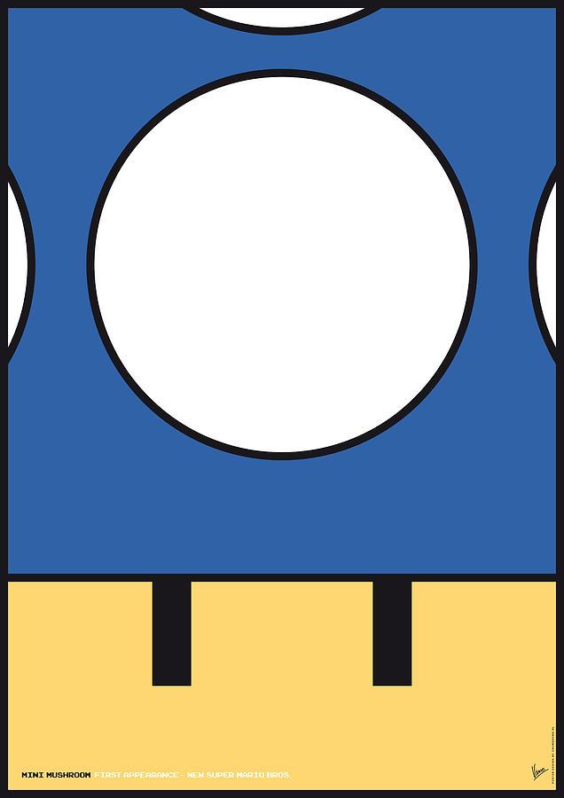 Mario Digital Art - My Mariobros Fig 05d Minimal Poster by Chungkong Art