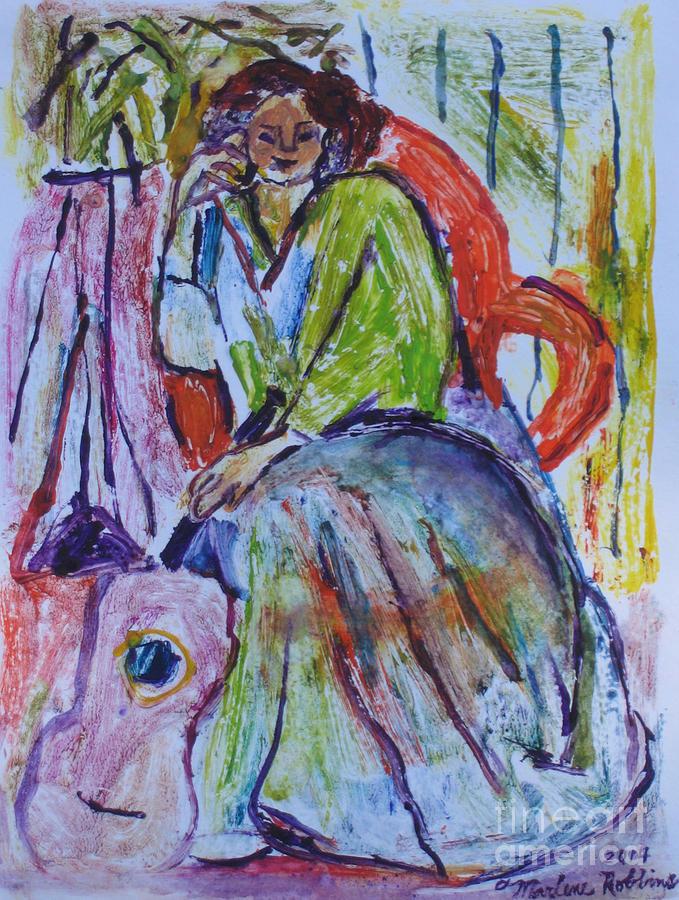 Lady Painting - My Matisse by Marlene Robbins