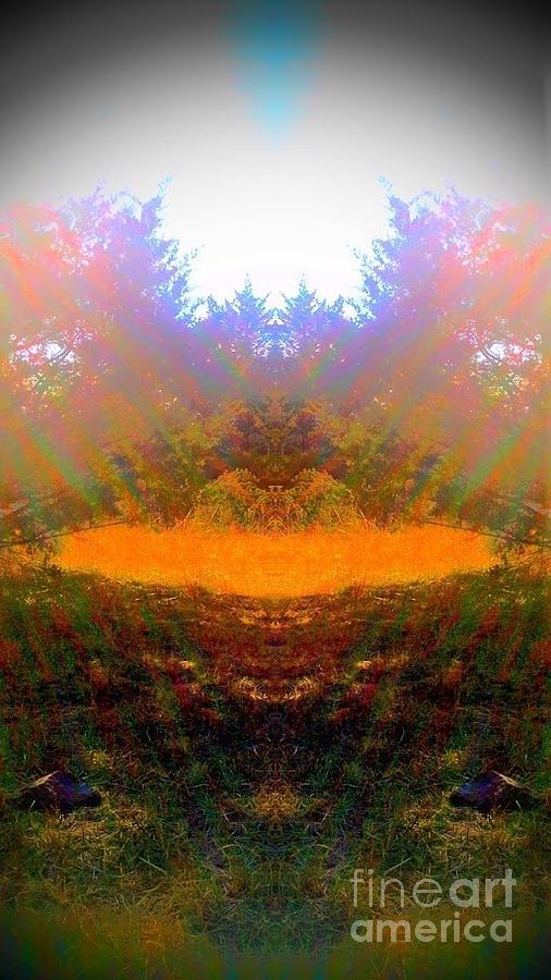 Abstract Photograph - My Medicine Wheel by Karen Newell