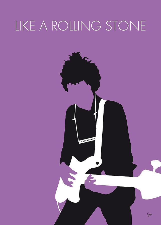 Bob Digital Art - No001 MY BOB DYLAN Minimal Music poster by Chungkong Art