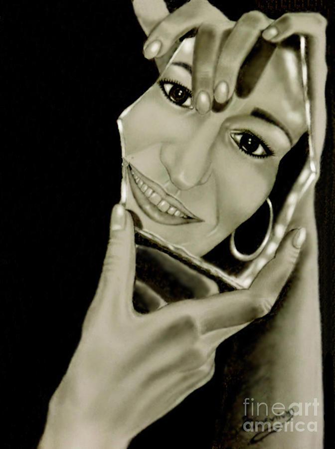 My Mirror Drawing by Sonia Ferentinou