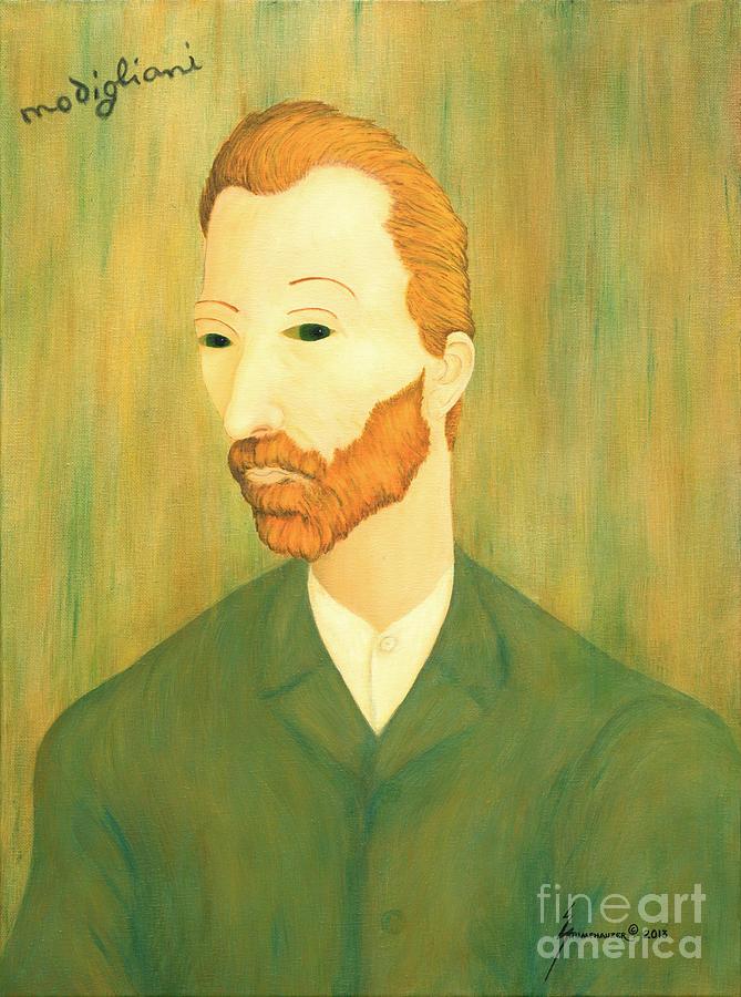 My Modigliani Style Vincent Van Gogh by Jerome Stumphauzer