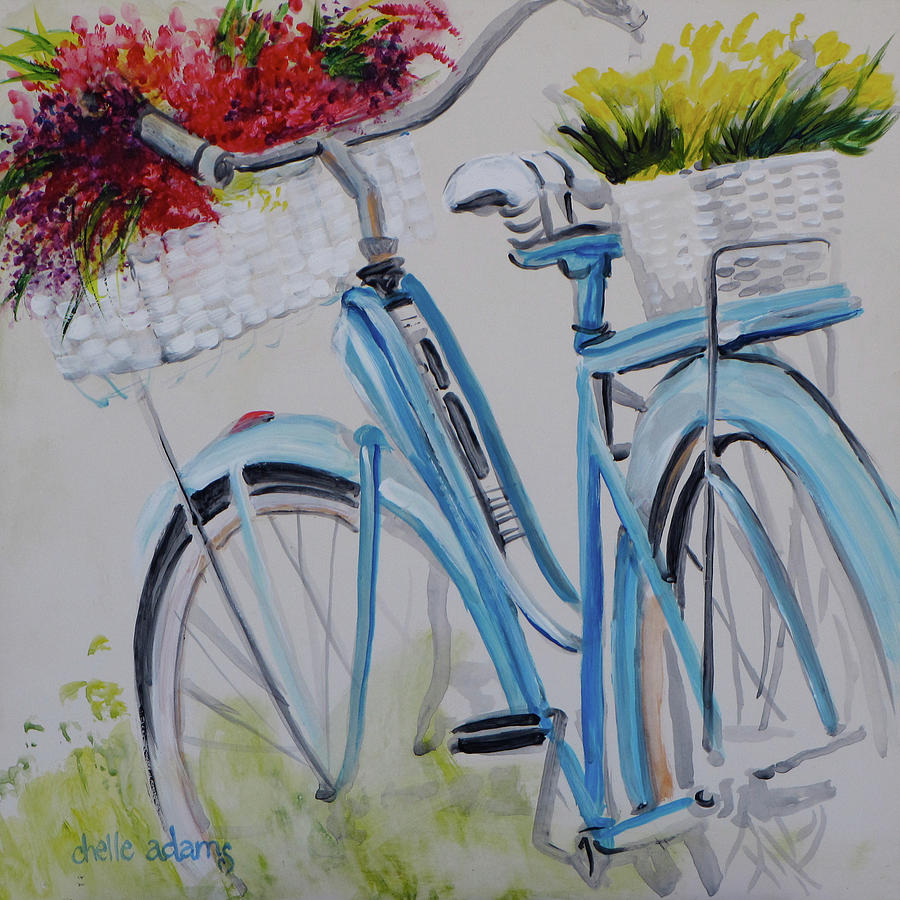 My Momma S Bicycle Painting By Chelle Adams