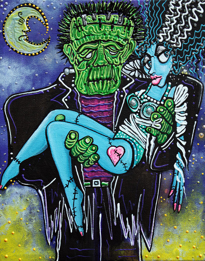 Monster Painting - My Monster My Bride by Laura Barbosa
