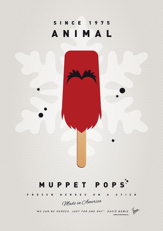 Muppets Digital Art - My Muppet Ice Pop - Animal by Chungkong Art