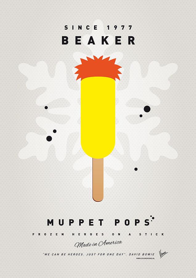 Muppets Digital Art - My Muppet Ice Pop - Beaker by Chungkong Art
