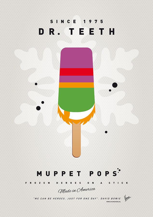 Muppets Digital Art - My Muppet Ice Pop - Dr Teeth by Chungkong Art