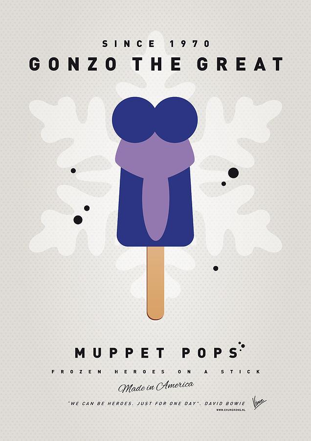 Muppets Digital Art - My Muppet Ice Pop - Gonzo by Chungkong Art
