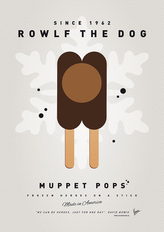 Muppets Digital Art - My Muppet Ice Pop - Rowlf by Chungkong Art