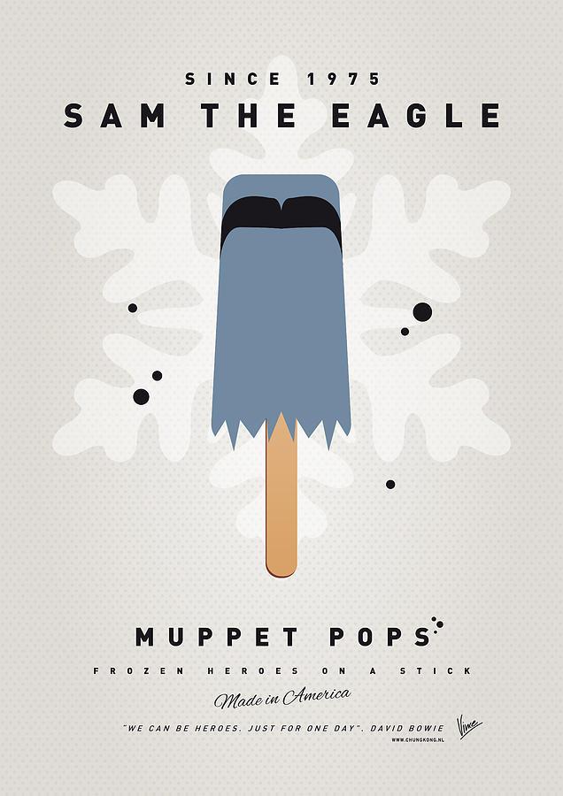 Muppets Digital Art - My Muppet Ice Pop - Sam The Eagle by Chungkong Art