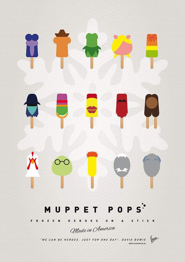 Muppets Digital Art - My Muppet Ice Pop - Univers by Chungkong Art