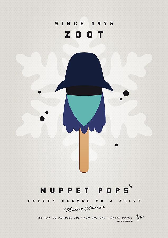 Muppets Digital Art - My Muppet Ice Pop - Zoot by Chungkong Art