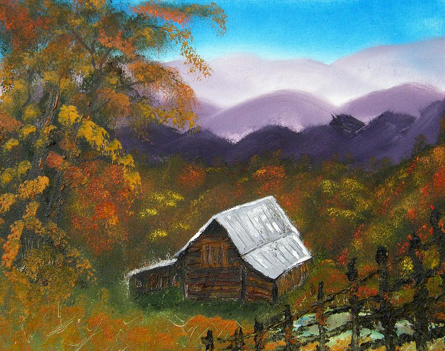 Landscape Painting - My Neighbors Barn Big Sandy Mush Nc by Margaret G Calenda