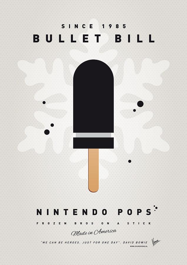 1 Up Digital Art - My Nintendo Ice Pop - Bullet Bill by Chungkong Art