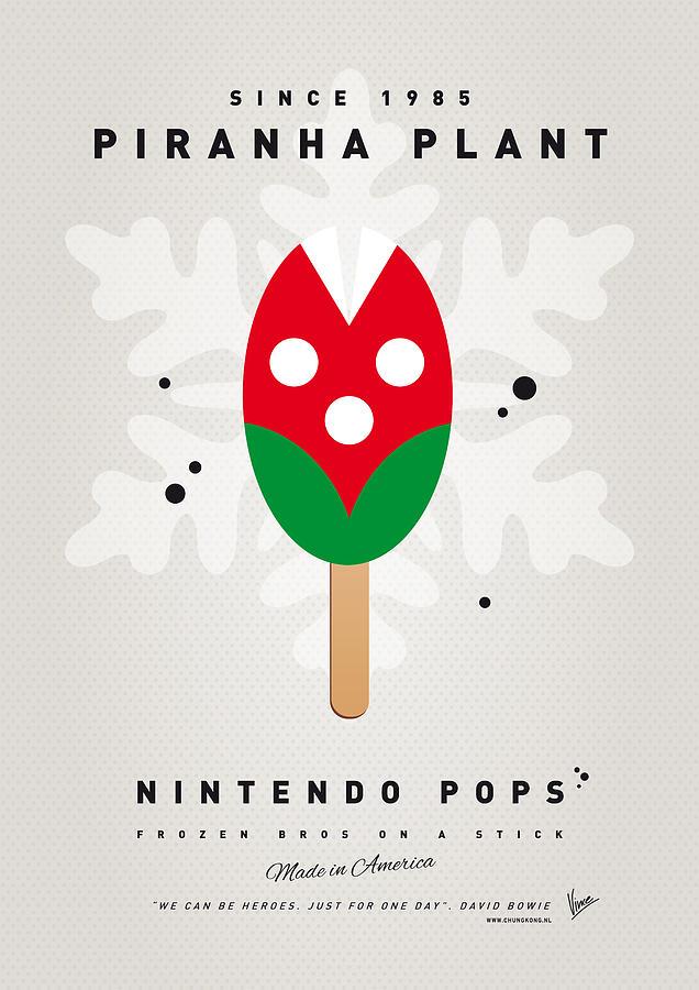 1 Up Digital Art - My Nintendo Ice Pop - Piranha Plant by Chungkong Art