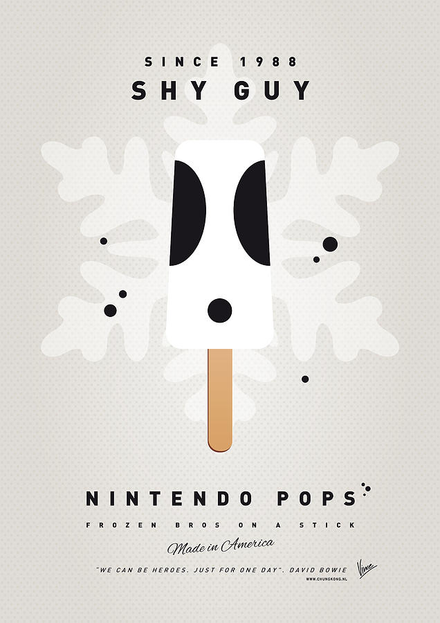 1 Up Digital Art - My Nintendo Ice Pop - Shy Guy by Chungkong Art