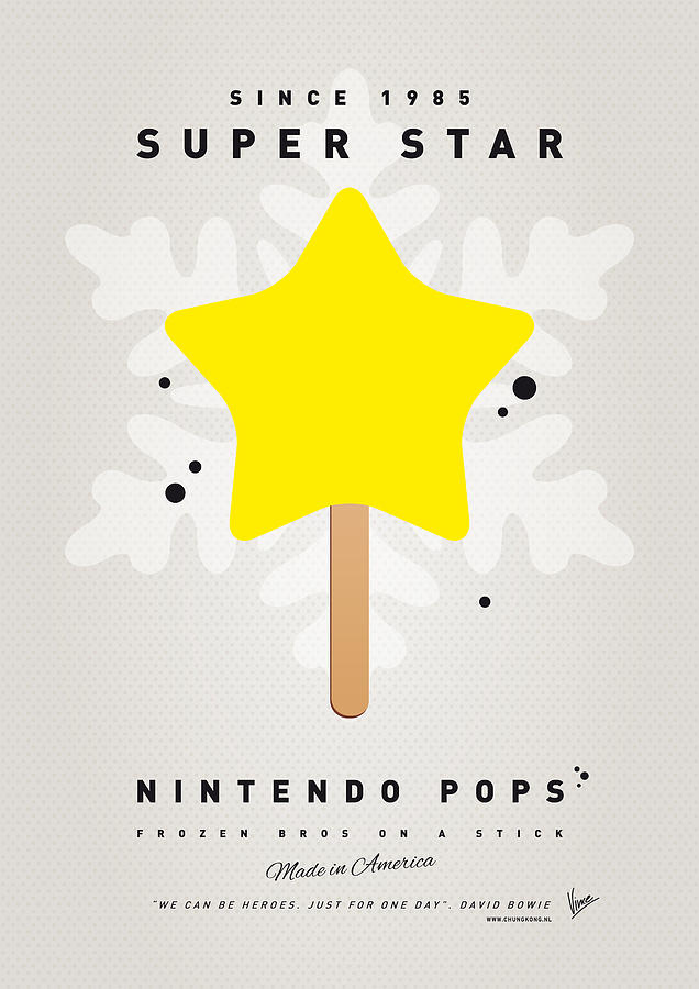 1 Up Digital Art - My Nintendo Ice Pop - Super Star by Chungkong Art