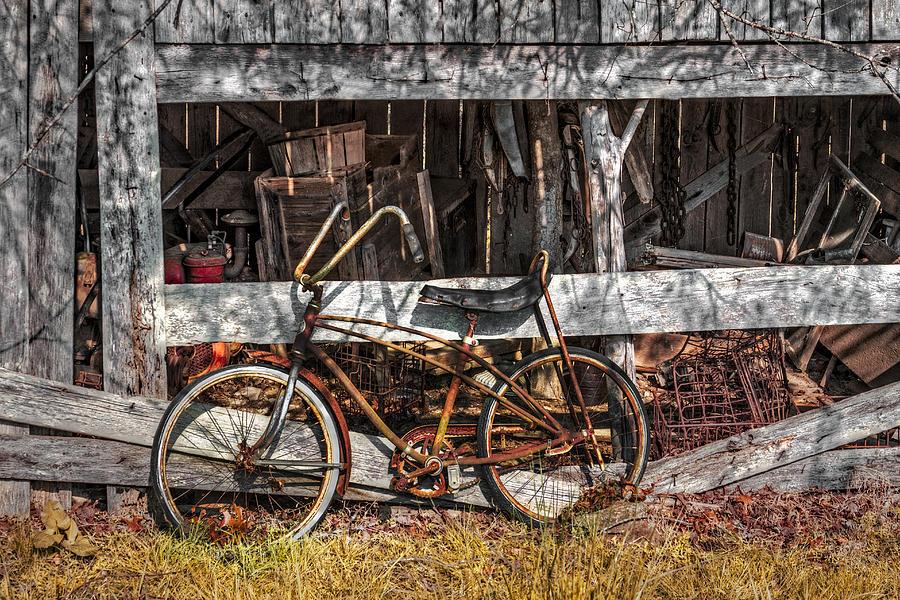 Appalachia Photograph - My Old Bike by Debra and Dave Vanderlaan