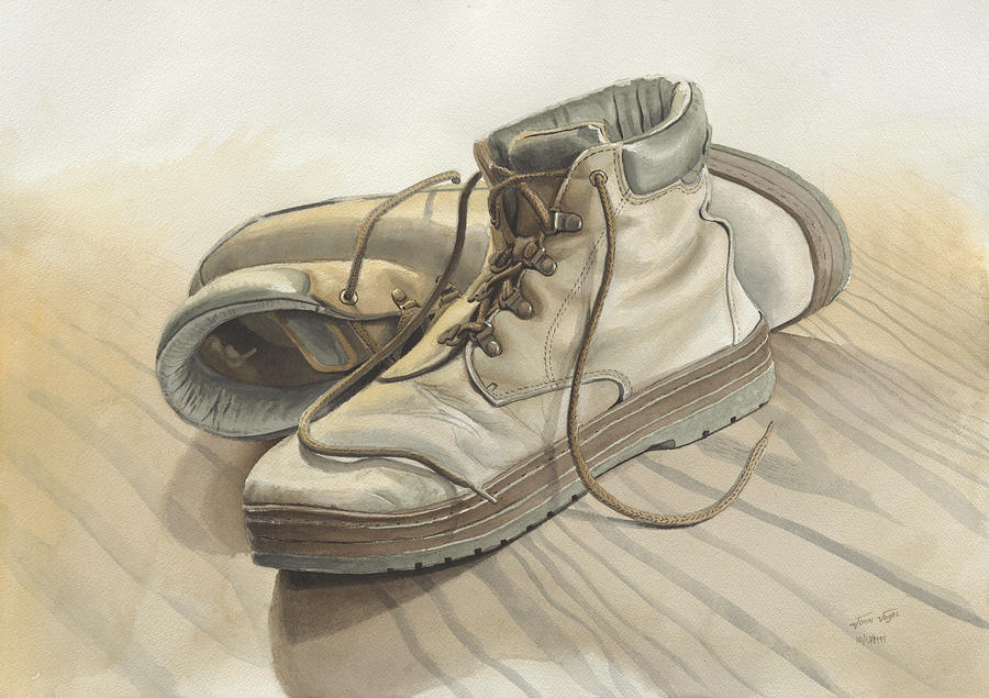 edefe19645910d My Old Shoes  2 Painting by John Vogel